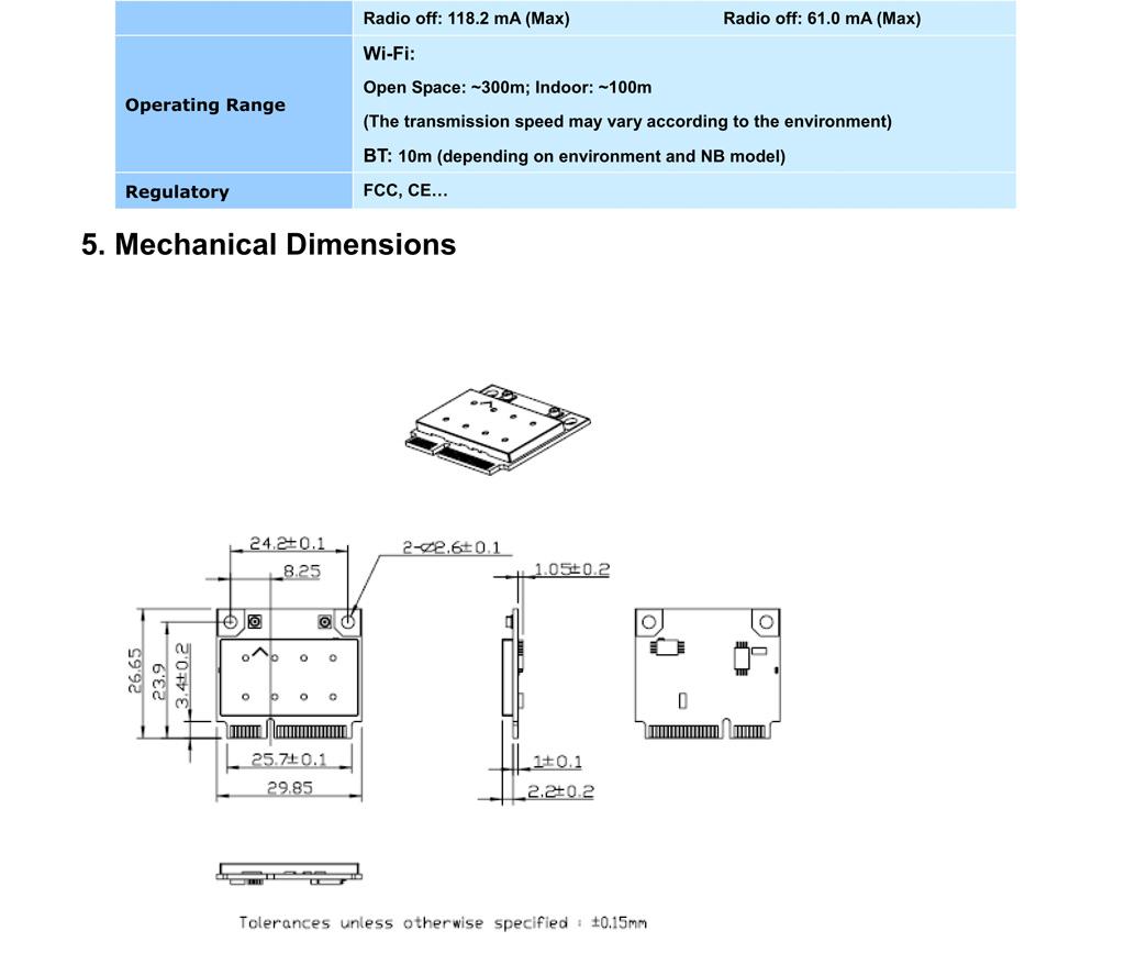 Atheros AR5B195 AR9285 AR3011 Half MiniPCIe Card 802 11N Wifi Bluetooth 3 0