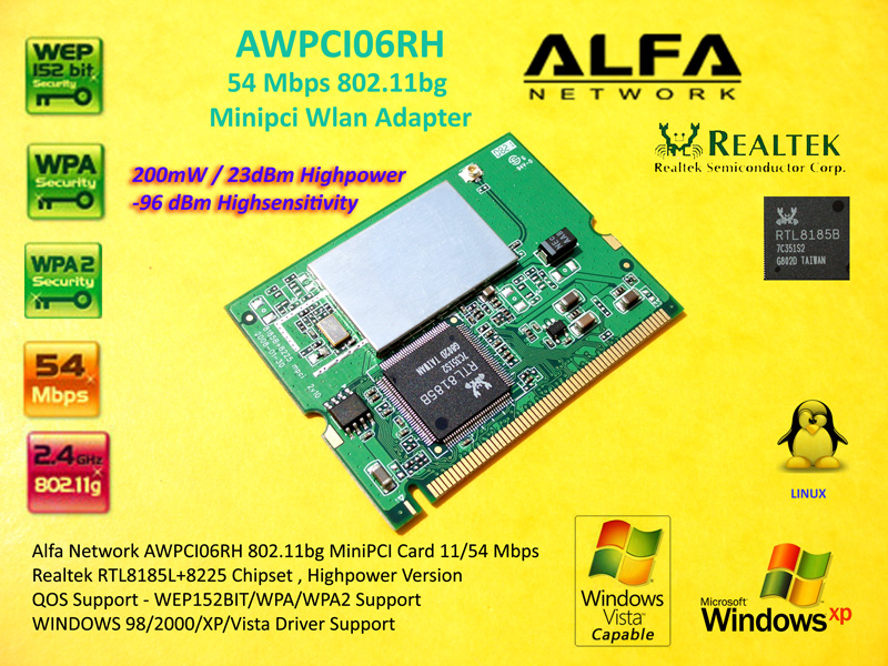 REALTEK RTL8180 WIRELESS LAN MINI PCI NIC WINDOWS 8 DRIVER DOWNLOAD